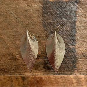Zia Metallic Leather Drop Earrings